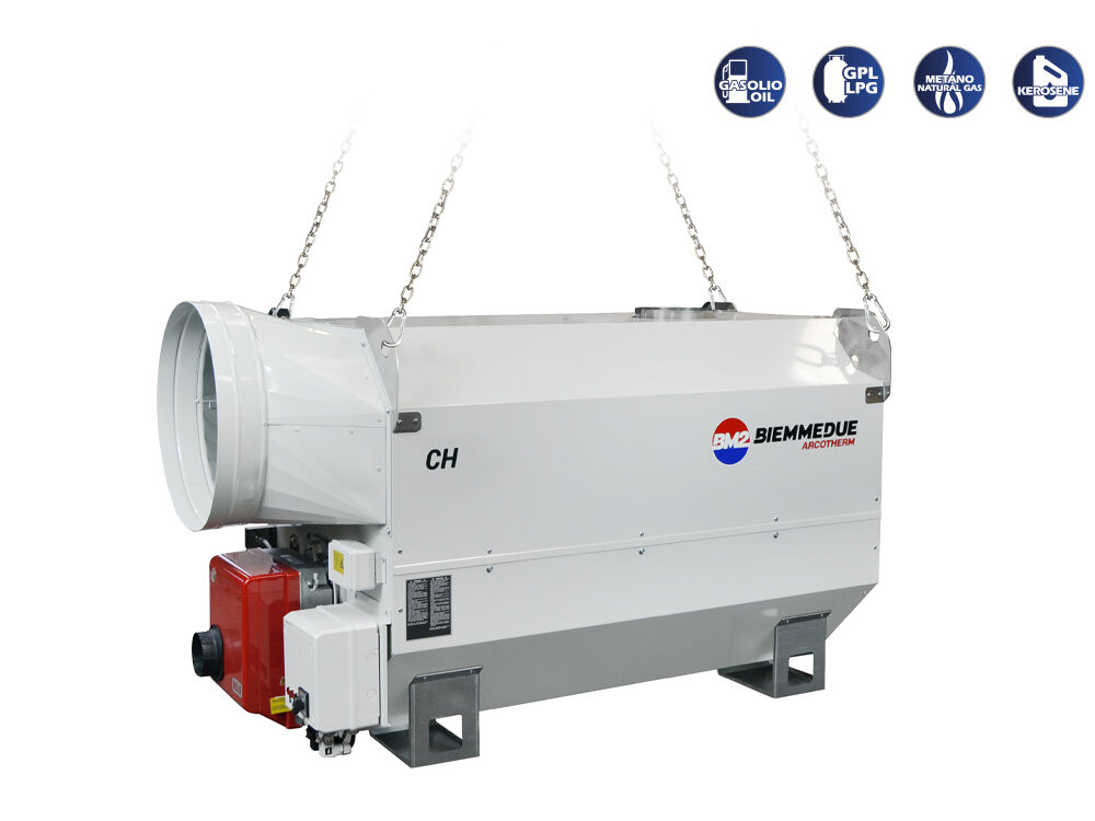 CH - INDIRECT COMBUSTION HEAVY DUTY SUSPENDED SPACE HEATERS