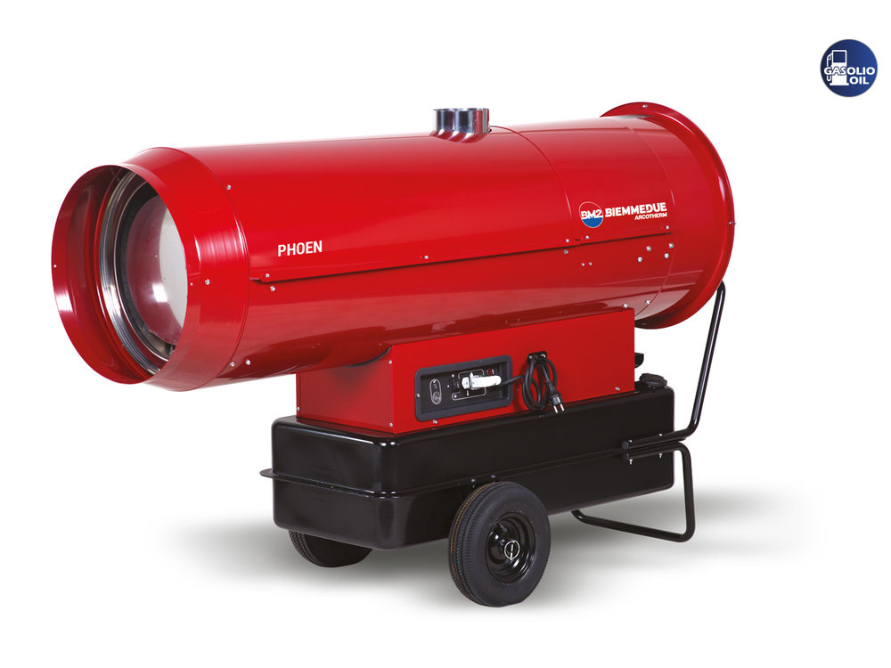 INDIRECT COMBUSTION PORTABLE HEATERS WITH TWO STAGES BURNER